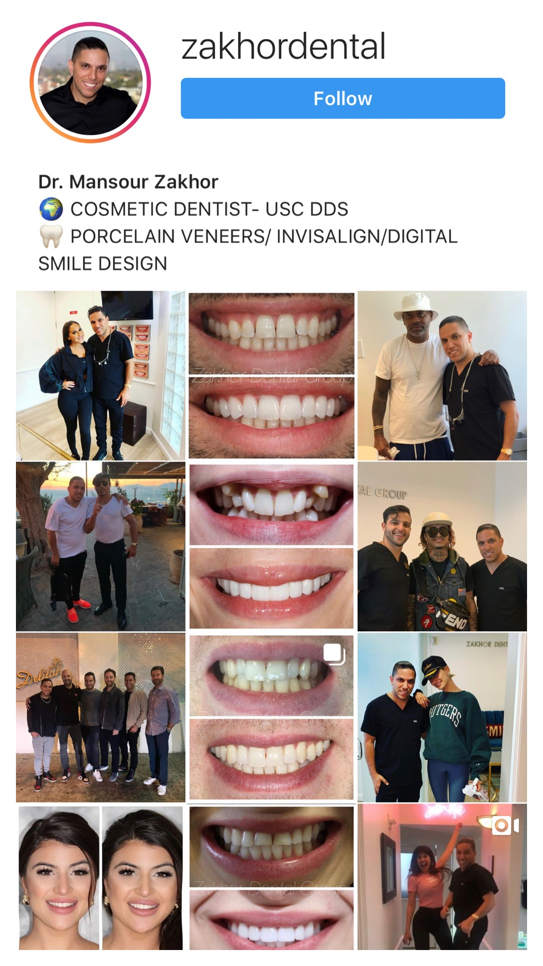 Zakhor Dental Group instagram fgeed